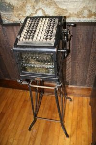 An early Burroughs adding machine