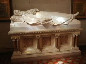 Ezra Cornell's sarcophagus in Sage Chapel