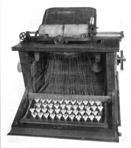 Sholes typewriter, 1873. Museum, Buffalo and Erie County Historical Society.