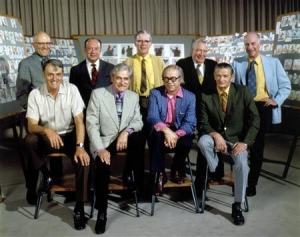 Davis is known as one of Disney's Nine Old Men, the famed core animators of Disney films. Marc Davis, back row, second from the left