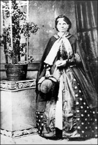 Catherine Broshears Maynard, whose picture was taken by a pioneer Seattle photographer in the 1860s.