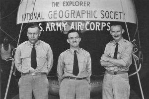 Major William E. Kepner, First Lieutenant Orvil A. Anderson, and Captain Stevens