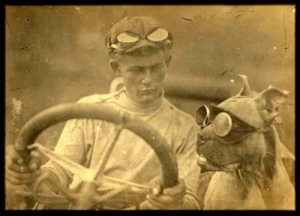 Bud and Horatio Nelson Jackson on their historic 1903 drive across the US.