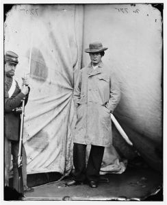 Washington Navy Yard, D.C. Lewis Payne, the conspirator who attacked Secretary Seward, standing in overcoat and hat