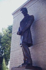 1912, Standing Lincoln at Nebraska State Capital