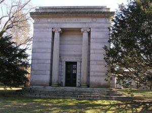 Juilliard family mausoleum at the Woodlawn Cemetery in The Bronx, New York.