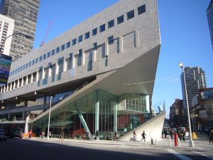 Alice Tully Hall in the Juilliard School building.