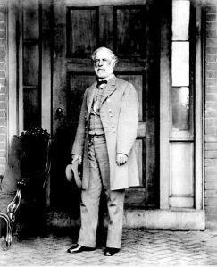 Mathew Brady portrait of Lee on April 16, 1865, Richmond, Virginia.