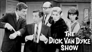 (left to right) Dick Van Dyke, Morey Amsterdam, Richard Deacon, Rose Marie, Mary Tyler Moore