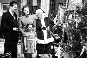 Miracle on 34th Street with John Payne, Maureen O'Hara, Natalie Wood, and Edmund Gwenn.