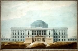 This illustration shows the Capitol as it appeared around 1811.