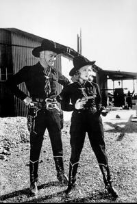 Boyd as Hopalong Cassidy with wife Grace Bradley Boyd