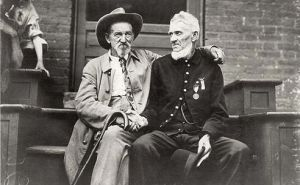 Confederate and Union Veteran at Gettysburg Reunion of 1913