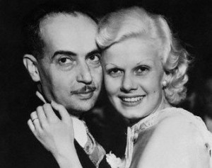 Paul Bern and Jean Harlow on their wedding day, July 2, 1932