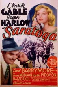 Theatrical release poster for Saratoga, which was released on July 23, 1937.