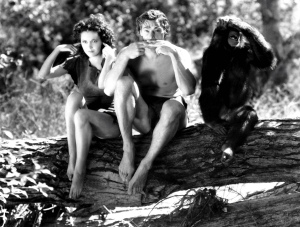 Johnny Weissmuller and Maureen O'Sullivan in Tarzan Escapes directed by Richard Thorpe , 1936