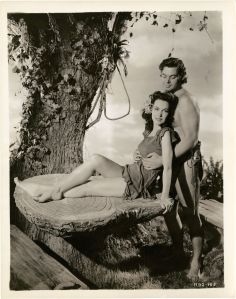 Maureen O'Sullivan and Johnny Weissmuller in Tarzan's Secret Treasure directed by Richard Thorpe , 1941