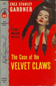 The Case of the Velvet Claws, 1953 U.S. paperback edition