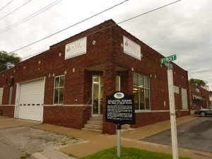 Chillicothe Baking Company's building in Chillicothe, Missouri where bread was first machine sliced for sale.