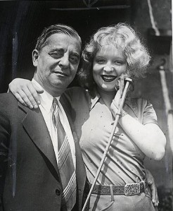 Clara Bow and her father, Robert