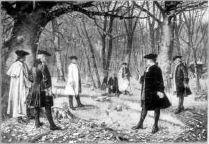 Alexander Hamilton fighting his fatal duel with Vice President Aaron Burr