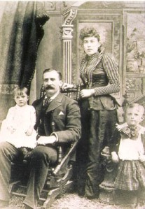 Maggie and J.J. with their two children, Lawrence and Helen Brown