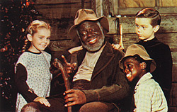 Clockwise from left: Ginny (Luana Patten), Uncle Remus (James Baskett), Johnny (Bobby Driscoll) and Toby (Glenn Leedy).