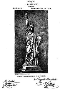Bartholdi's Statue of Liberty design patent