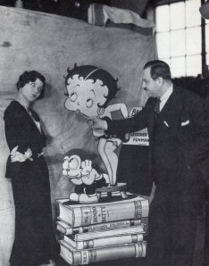 Max, Betty Boop, and Bimbo with singer Helen Kane