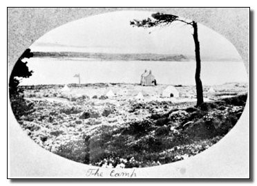 Postcard of first Scout encampment, Brownsea Island, August 1907