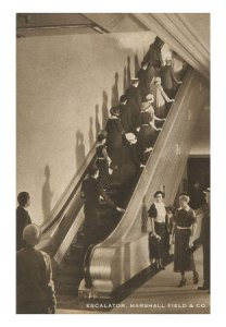 CH-00367-C~Escalator-Marshall-Fields-Chicago-Illinois-Posters