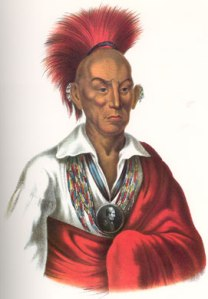 Black Hawk, from History of the Indian Tribes of North America.
