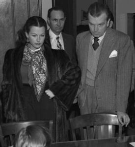 Hedy Lamarr with then husband John Loder in 1946