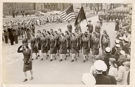 Lady Leathernecks on parade