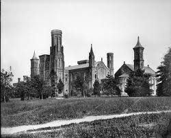 "The ""Castle"" (1867 photo), the Institution's first building and still its headquarters."