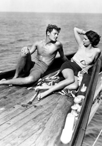 Kay Francis and Joel McCrea on the set of Girls About Town