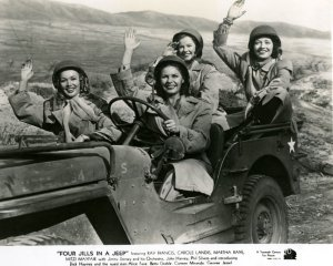 USO---Kay-Francis_-Martha-Raye_-Carole-Landis_-and-Mitzi-Mayfair-_1944_