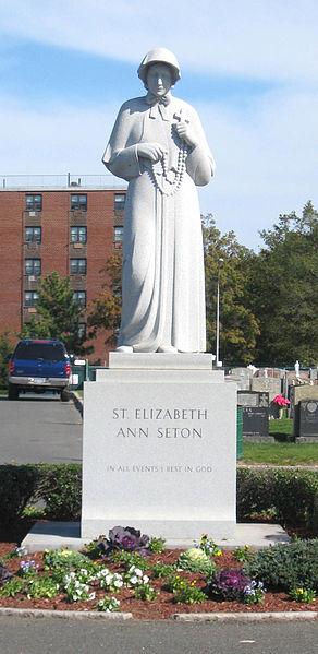 Statue in St. Raymond's Cemetery, Bronx, New York