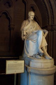 Statue of John Dalton in the Manchester Town Hall.