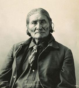 Geronimo. Photographed by Frank A. Rinehart, 1898.