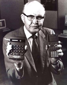 For those of you that have never seen one, Jack is holding handheld calculators.
