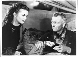John Wayne and Joanne Dru in Red River