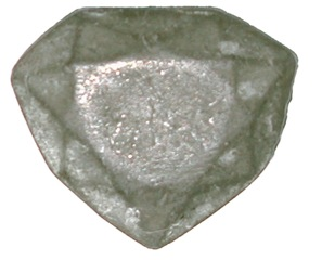 "Lead cast of the ""French Blue"" diamond, discovered in 2007 at the Muséum national d'histoire naturelle by Farges"