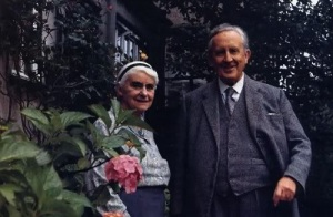 J.R.R. Tolkien and his wife Edith.