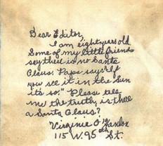 Photo of Virginia's original letter