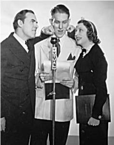 Tim and Irene with Jack Benny's announcer Don Wilson
