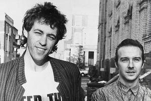 Bob Geldof (left) with Midge Ure