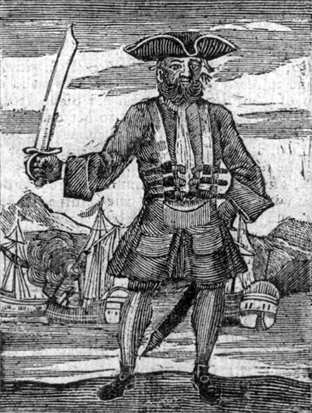Blackbeard the Pirate: this was published in the General History of the Pyrates, 1725.