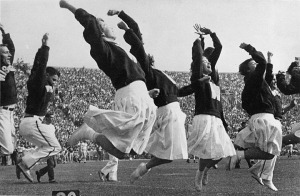 Cheerleaders at the University of Wisconsin, Madison in 1948