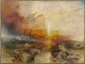 The Slave Ship, J. M. W. Turner's representation of the mass-murder of slaves, inspired by the Zong killings.